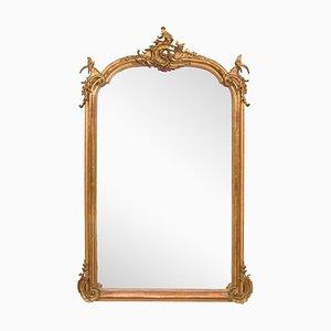 Großer französischer Spiegel mit verziertem Rahmen, 1860er