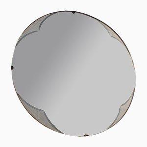 Espejo Mid-Century redondo sin marco