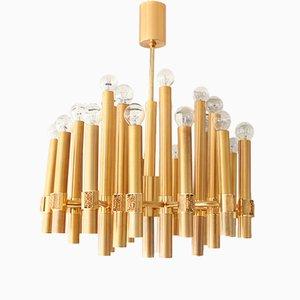 Brutalistischer Kronleuchter mit 25 Leuchtstellen von Angelo Brotto für Esperia, 1970er