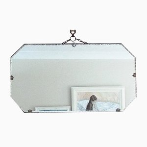 Vintage Art Deco Piecrust Edge Mirror
