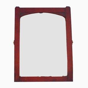 Spiegel mit Rahmen aus Mahagoni im Jugendstil