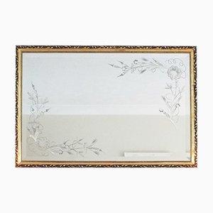 Vintage Spiegel mit vergoldetem Holzrahmen
