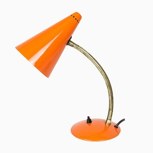 Lámpara de mesa TL33 naranja de Maclamp, años 70