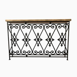 Early 20th Century Wrought Iron Console Table