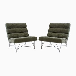 Green Lounge Chairs from Dux, 1980s, Set of 2