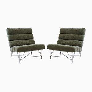 Grüne Sessel von Dux, 1980er, 2er Set