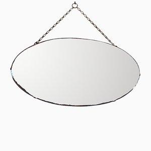 Art Deco Oval Mirror
