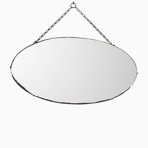 Ovaler Art Deco Spiegel