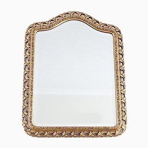 Espejo vintage de madera dorada