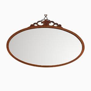 Ovaler Vintage Spiegel mit abgeschrägten Kanten