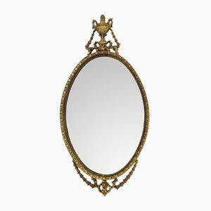 Espejo vintage grande con marco de gesso dorado