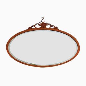 Großer ovaler Vintage Spiegel