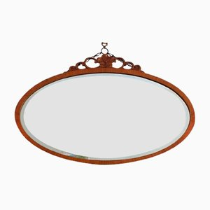 Large Vintage Oval Mirror