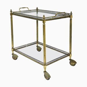 Mid-Century Gilt Metal Bar Cart