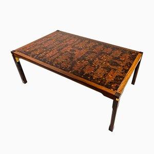Tavolino da caffè grande in wengé di Mogens Lassen & Rolf Middleboe per Tranekær Furniture, anni '70