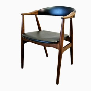 Modell 213 Armlehnstuhl aus Teak von Th. Harlev für Farstrup Møbler, 1950er