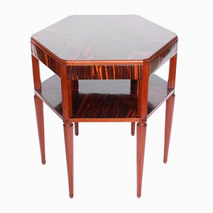 Tavolino esagonale in ebano Macassar, anni '20