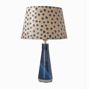 Lampe de Bureau Noire par Carl Fagerlund pour Orrefors, 1960s