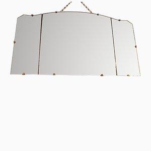 Dreiteiliger Vintage Spiegel, 1950er