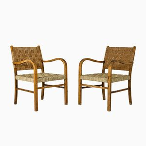 Armchairs by Axel Larsson for Bodafors, 1930s, Set of 2