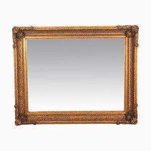Großer Spiegel mit vergoldetem Rahmen, 1940er