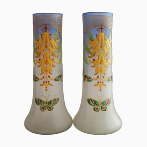 Art Nouveau Vases from Legras, 1900s, Set of 2