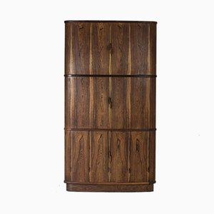 Mueble esquinero de palisandro de Niels O. Møller para J.L. Møllers, años 50