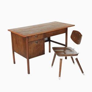 Chaise et Bureau Mid-Century en Noyer par Jack Cartwright pour Founders