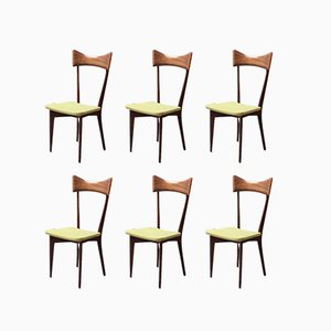 Dining Chairs by Ico & Luisa Parisi for Ariberto Colombo, 1948, Set of 6