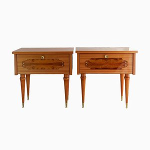 Mid-Century French Bedside Tables, Set of 2