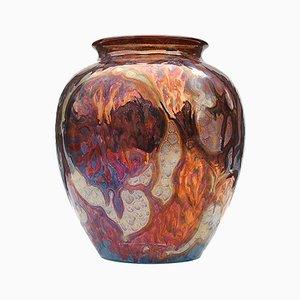 Mehrfarbige niederländische Vase von Plazuid Gouda, 1950er