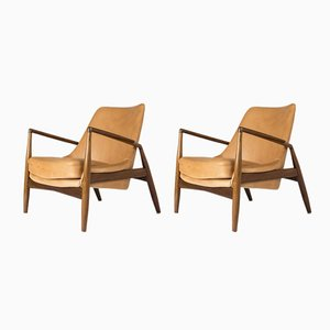 Seal Lounge Chairs by Ib Kofod-Larsen for OPE, 1950s, Set of 2