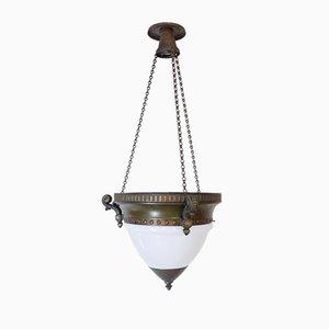 Art Deco Opalglas Deckenlampe
