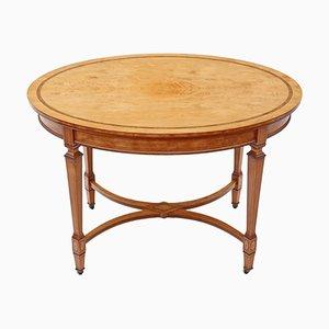 Table d'Appoint Victorienne Antique en Bois de Satin Marqueté