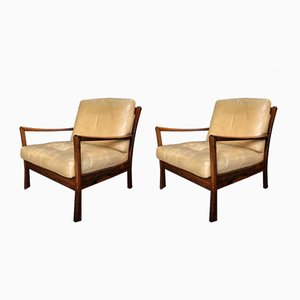 Danish Mid-Century Rosewood Lounge Chairs, Set of 2