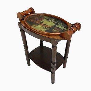 Französischer Art Deco Butler-Tisch mit Aufsatz