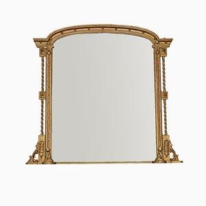 Espejo de repisa o de pared grande, década de 1820