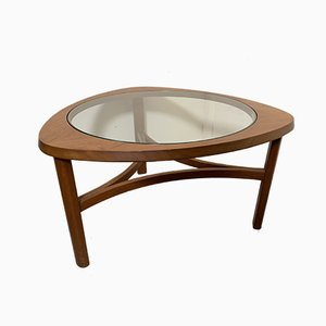 Glass & Teak Coffee Table from Nathan, 1970s