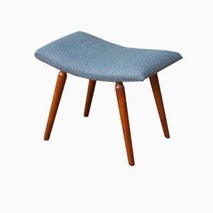 Vintage Blue Footstool, 1950s