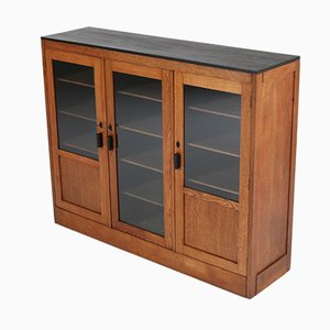 Art Deco Haagse School Oak Bookcase from Gescher & Kemper, 1920s
