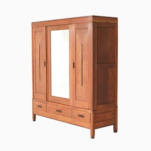 Art Deco Haagse School Oak Armoir or Wardrobe, 1920s