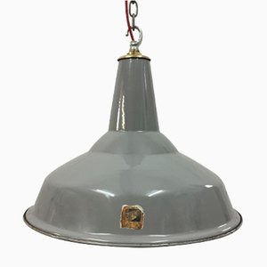 Vintage Industrial Factory Pendant from Benjamin Electric Manufacturing Company, 1950s
