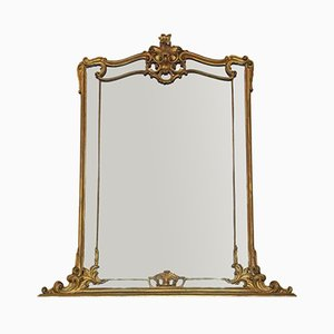 Large Victorian Overmantle or Wall Mirror, 1850s