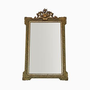 Large Victorian French Overmantle or Wall Mirror, 1890s