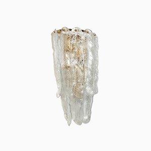 Lámpara de pared vintage de cristal de Murano de Mazzega