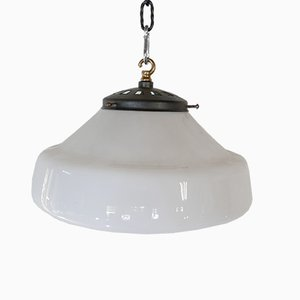 Lampe à Suspension Vintage en Opaline