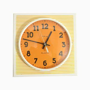 Vintage Plastic Wall Clock from Prim, 1970s