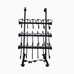 Wrought Iron Bottle Rack, 1960s