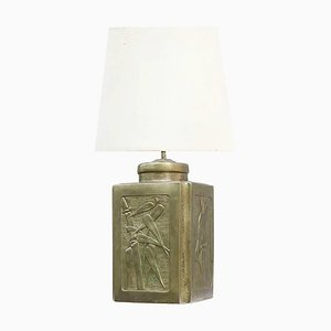 Arts & Crafts Pewter Metal Lamp Base