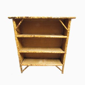 Antique Bamboo Open Bookshelves